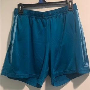 Women's Blue Adidas Shorts with Pockets M